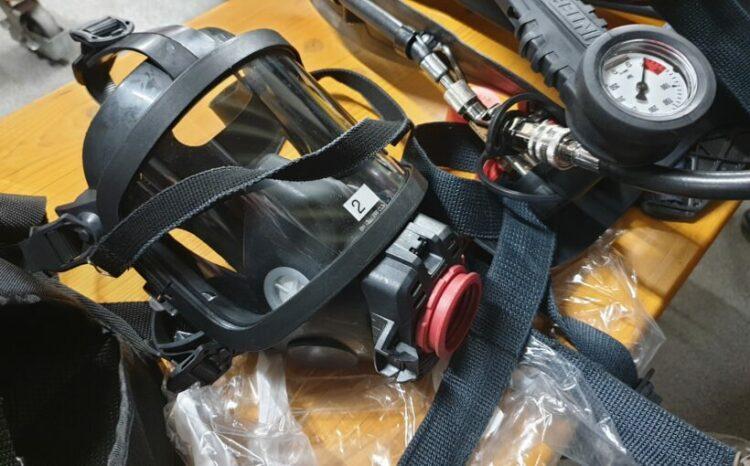 Überdruckatemschutzmaske